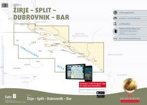 Satz 8: Zirje - Split - Dubrovnik - Bar